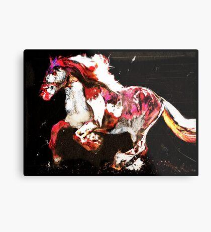 Painted Irish Gypsy Horse Metal Print
