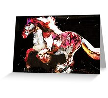 Painted Irish Gypsy Horse Greeting Card