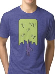 Melted Purple Alien Tri-blend T-Shirt