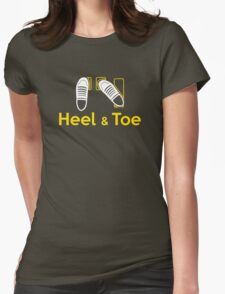 Heel & Toe (1) Womens Fitted T-Shirt