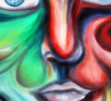 A Face of Swirls Sticker
