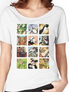 Animal Musicians Montage Women's Relaxed Fit T-Shirt