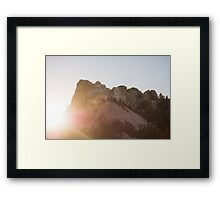 A Mount Rushmore Sunset Framed Print