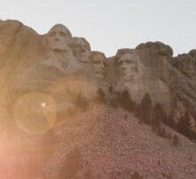 A Mount Rushmore Sunset Sticker