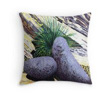 Two large rounded ROCKS * Throw Pillow