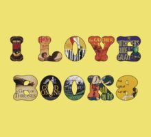 I Love Books One Piece - Short Sleeve