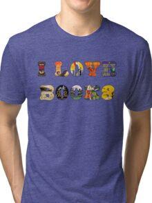 I Love Books Tri-blend T-Shirt