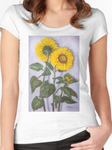 The Sunflowers Women's Fitted Scoop T-Shirt
