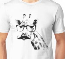 Giraffe with beard and glasses Unisex T-Shirt