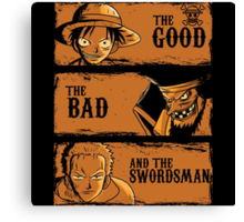 The Good The Bad and the swordsman  Canvas Print