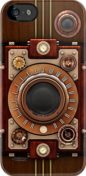 Steampunk Camera No.1A iPhone case by Steve Crompton