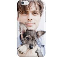 Matthew Gray Gubler with dog iPhone Case/Skin