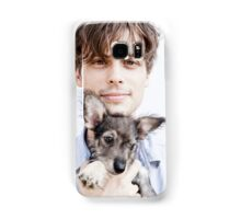 Matthew Gray Gubler with dog Samsung Galaxy Case/Skin