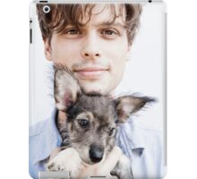 Matthew Gray Gubler with dog iPad Case/Skin