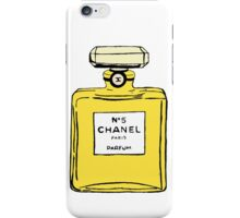 Chanel no5 yellow iPhone Case/Skin