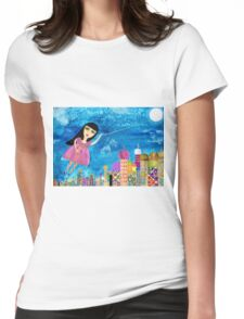 The Moon is my Balloon Womens Fitted T-Shirt