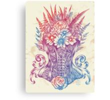Corset Garden Canvas Print