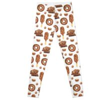 Chocolate Lovers Dessert Pattern Leggings