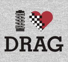 I Love DRAG (1) One Piece - Long Sleeve