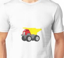 Red and Yellow Dump Truck Unisex T-Shirt