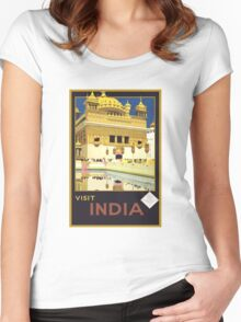 Vintage India Travel Women's Fitted Scoop T-Shirt