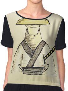 Samurai Jack Watercolor Chiffon Top