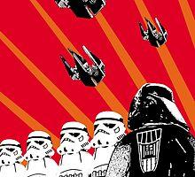 Star Wars Propaganda Poster (Soviet style) by AzureGriffin