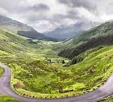 """Glen Croe from """"Rest and be thankful"""", Scotland by Geoff Carpenter"""