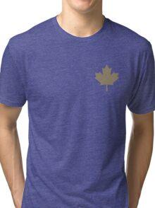 Maple Leaf Pattern - Drake Gold Tri-blend T-Shirt