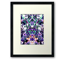 Abstract glitch design Framed Print