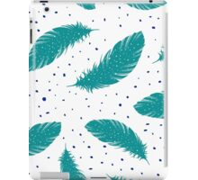 Tribal Teal Feathers Print Collection iPad Case/Skin