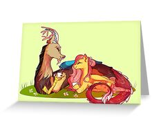 discord and fluttershy Greeting Card