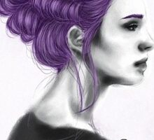 Purple Hair Lady Sticker