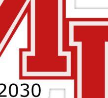 Mars 2030 - The Univeristy of Mars Sticker