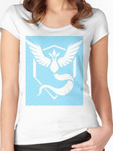 Team Mystic Word Pattern Women's Fitted Scoop T-Shirt