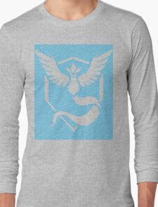 Team Mystic Word Pattern Long Sleeve T-Shirt