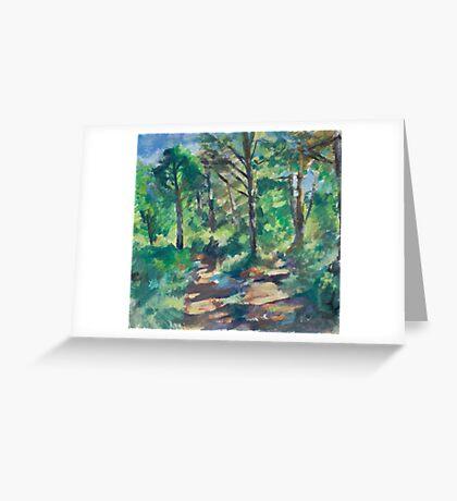 Shady Forest Greeting Card
