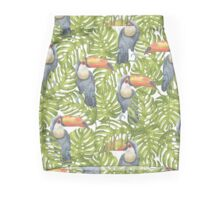 Toucan In The Jungle Pattern Mini Skirt