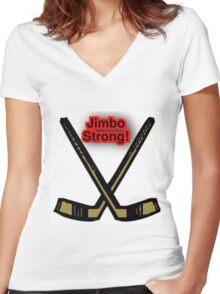 Jimbo Strong Women's Fitted V-Neck T-Shirt