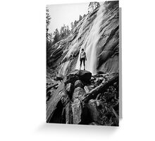 Back to the Camera - Bridal Veil Falls, Washington Greeting Card