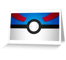 Pokemon Great Ball Greeting Card