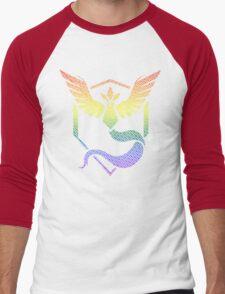 Team Mystic Word Pride Pattern Men's Baseball ¾ T-Shirt