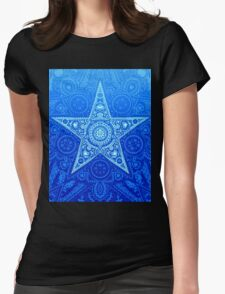 Starburst - Cool Colors Womens Fitted T-Shirt