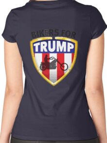 Bikers For Trump Women's Fitted Scoop T-Shirt