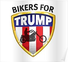 Bikers For Trump Poster