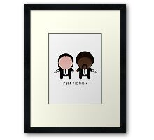 Pulp Fiction // Jules and Vincent Framed Print