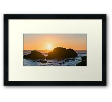 One-Eyed Willie's Pirate Ship - Ecola State Park, Oregon Framed Print