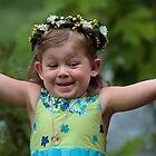 Joyful Flower Girl by Ken McElroy