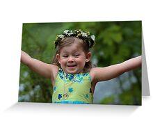 Joyful Flower Girl Greeting Card