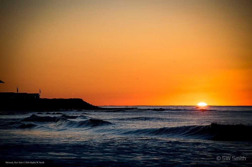 Sunrise By The Atlantic Ocean | Montauk, New York by © Sophie W. Smith